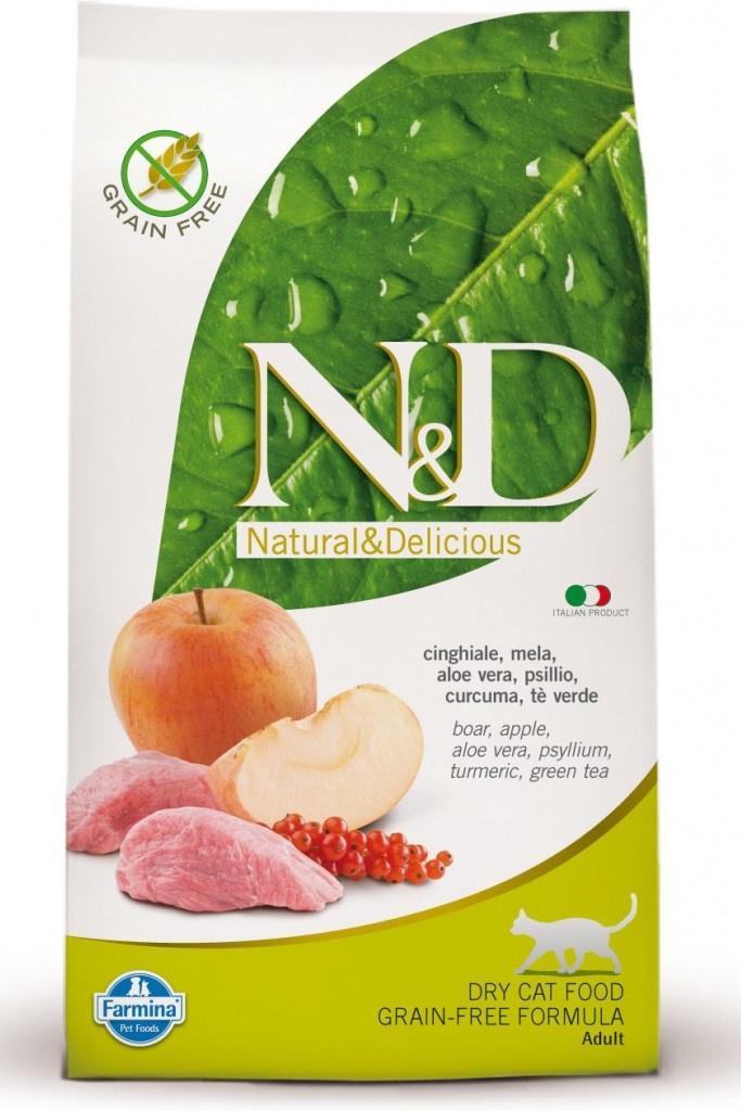 N&D cat gf adult boar/apple 10kg