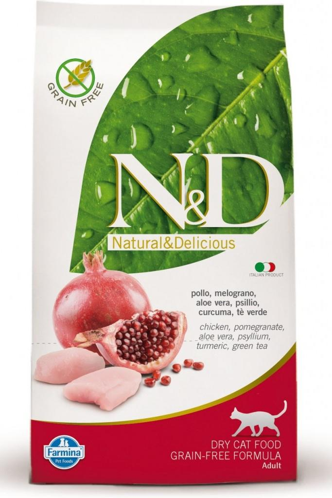 N&D cat gf adult chicken/pomegranate 10kg