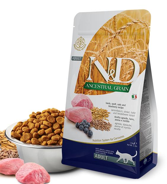 N&D lg cat adult lamb /blueberry 10kg