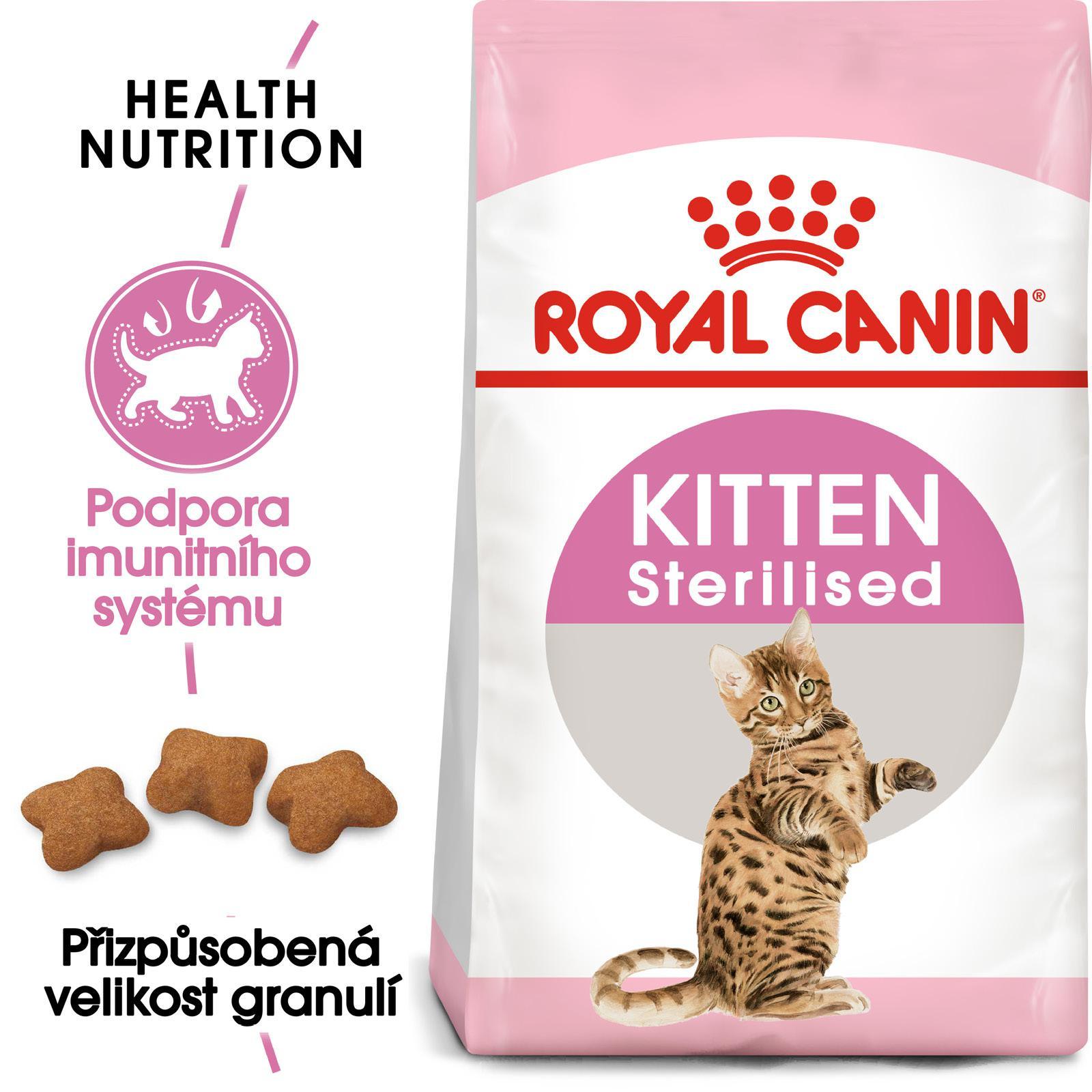 Royal Canin cat  KITTEN STERILISED - granule pro kastrovaná koťata - 2kg