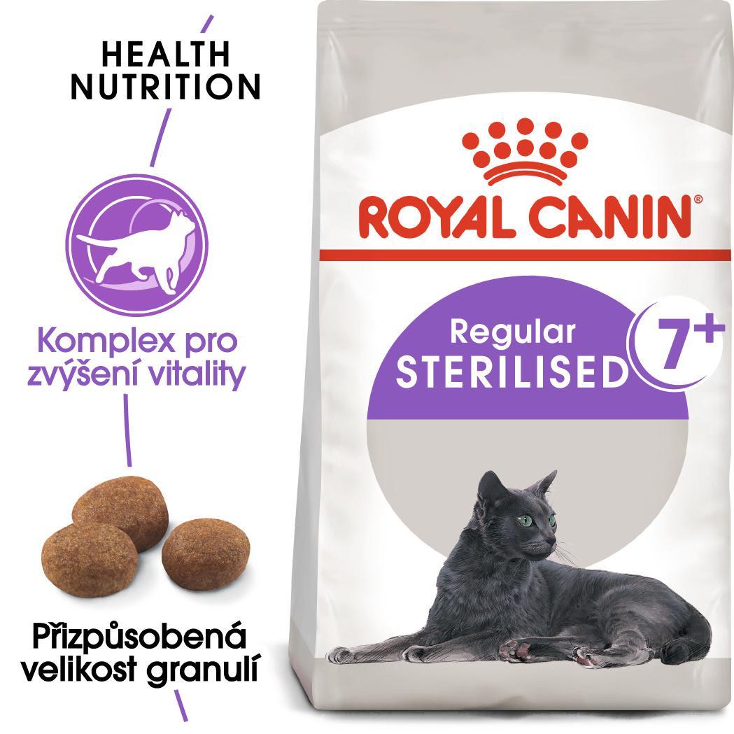 Royal Canin Sterilised 7+ - granule pro stárnoucí kastrované kočky - 1,5kg