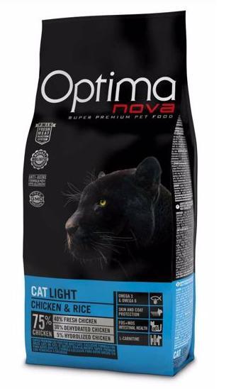 OPTIMAnova cat  LIGHT chicken/rice 8kg