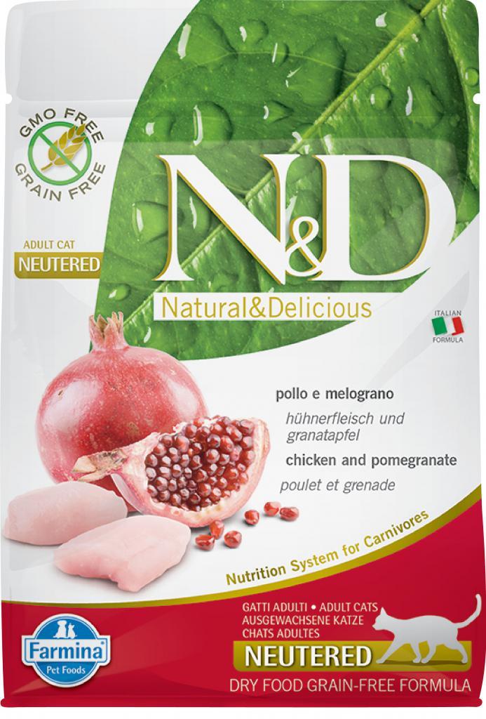N&D cat GF neutered chicken /pomegrante 10kg