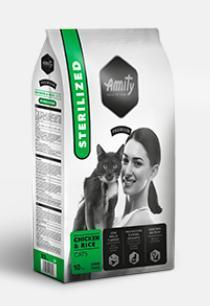 Amity premium cat sterilised chicken/rice 1,5kg PRODEJNA