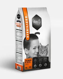 AMITY premium cat STERILISED salmon/rice 10kg