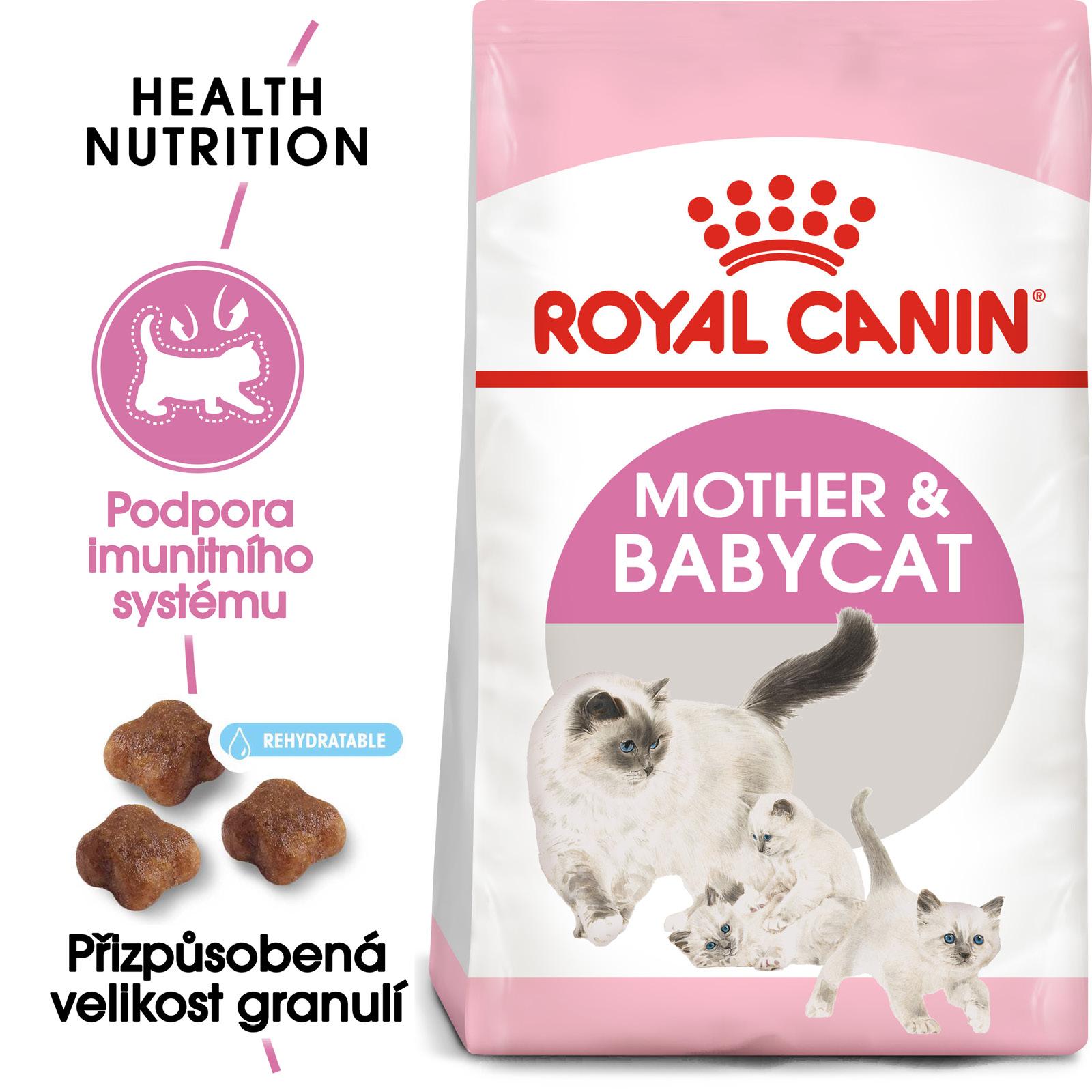 Royal Canin cat Mother&Babycat - granule pro březí nebo kojící kočky a koťata - 4kg