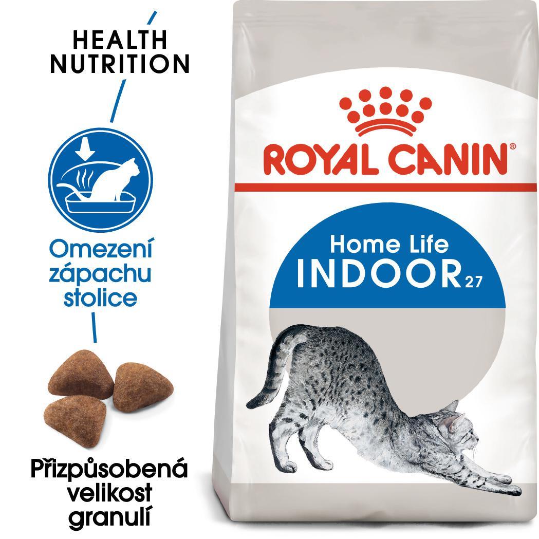 Royal canin indoor  - granule pro kočky žijící uvnitř 4kg prodejna
