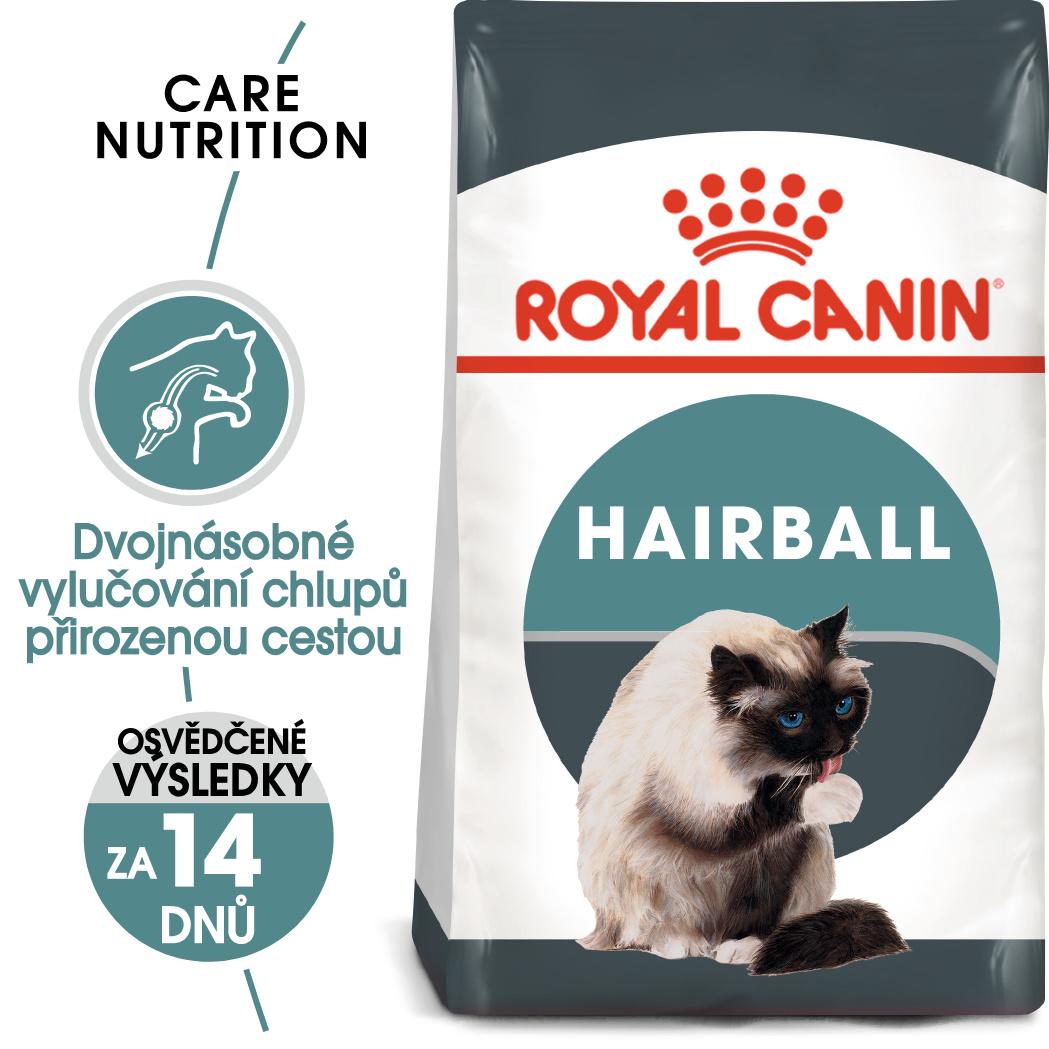 Royal canin cat hairball care - granule pro kočky pro správné vylučování 400g