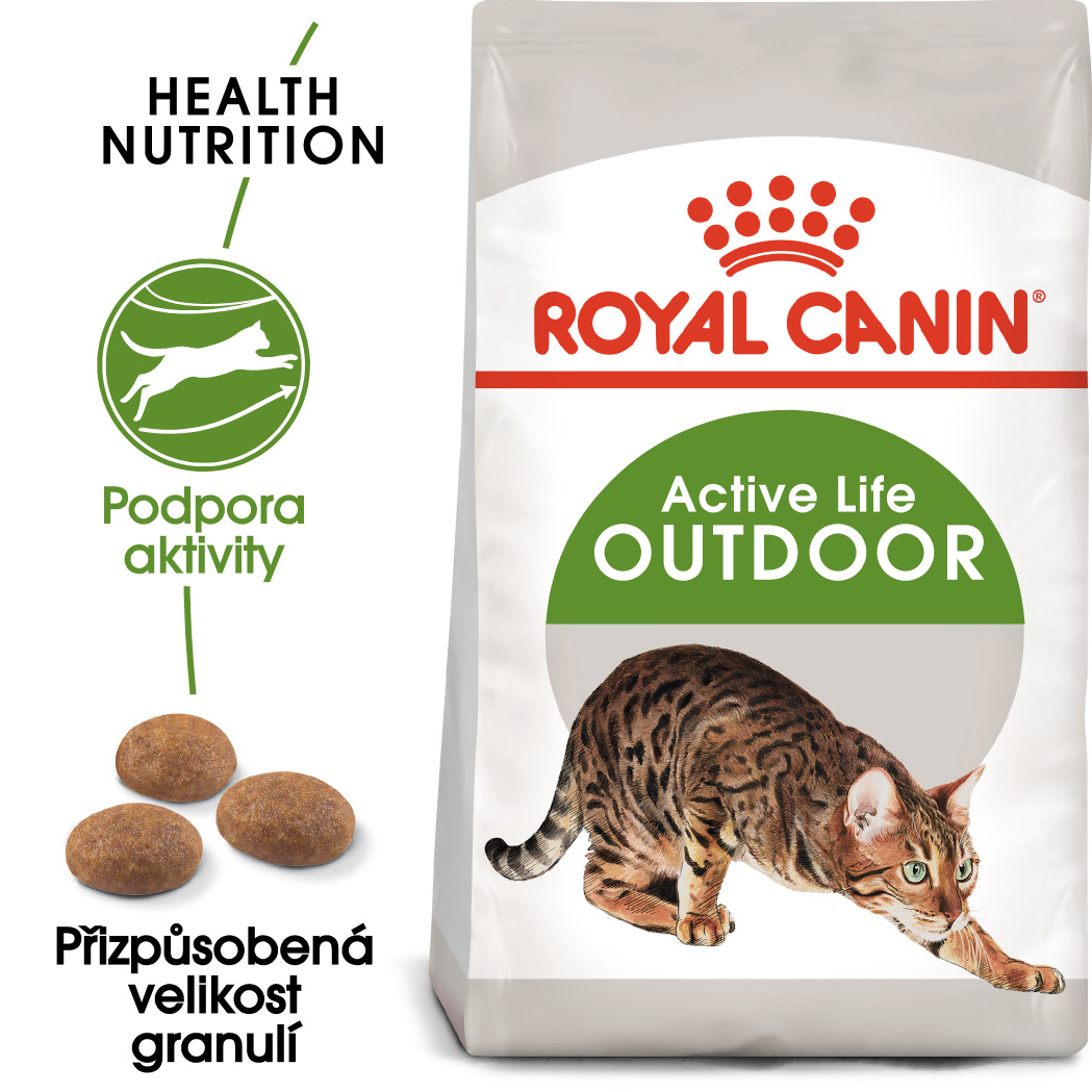 Royal canin outdoor - granule pro kočky s častým pohybem venku 10kg