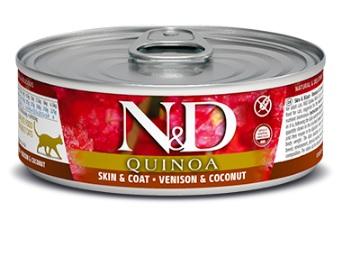 N&D cat  konz. quinoa venison/cocount 12x80g