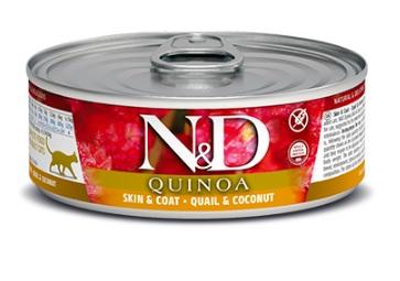 N&D cat  konz.  quinoa guail/coconut 12x80g