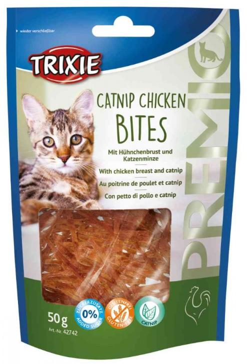 Cat pochoutka capnip chicken bites (trixie) 50g