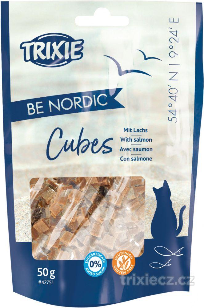 Cat pochoutka be nordic cubes salmon (trixie) 50g