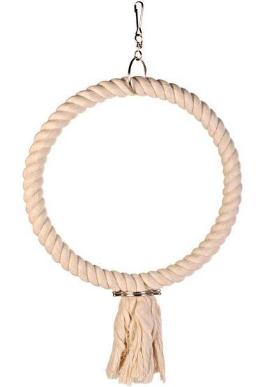 Houpačka závěsný bavlněný kruh s uzlem 25cm
