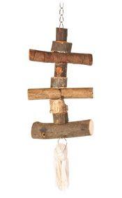 HRAČKA ptáci dřevěná pro andulky 40cm