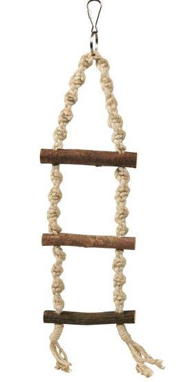 Závěsný žebřík - motouz+3 dřevěné příčky