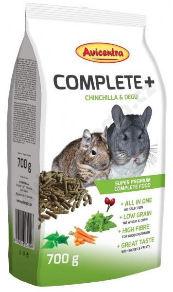 Avicentra COMPLETE + CHINCHILLA/DEGU 700g