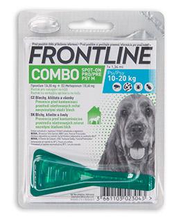Antiparazitní spot-on FRONTLINE COMBO pro psi PRODEJNA