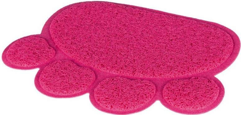 Předložka tlapka PVC k WC (trixie) 40x30cm /růžová
