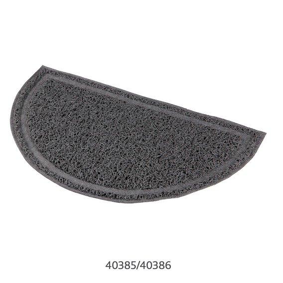 Trixie -předložka PVC k WC šedá/půlkulatá 41x25cm