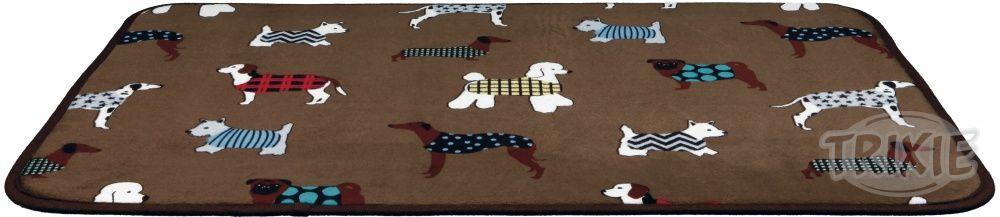 Podložka (obdélník) protiskluzová FUN dogs 90x68cm