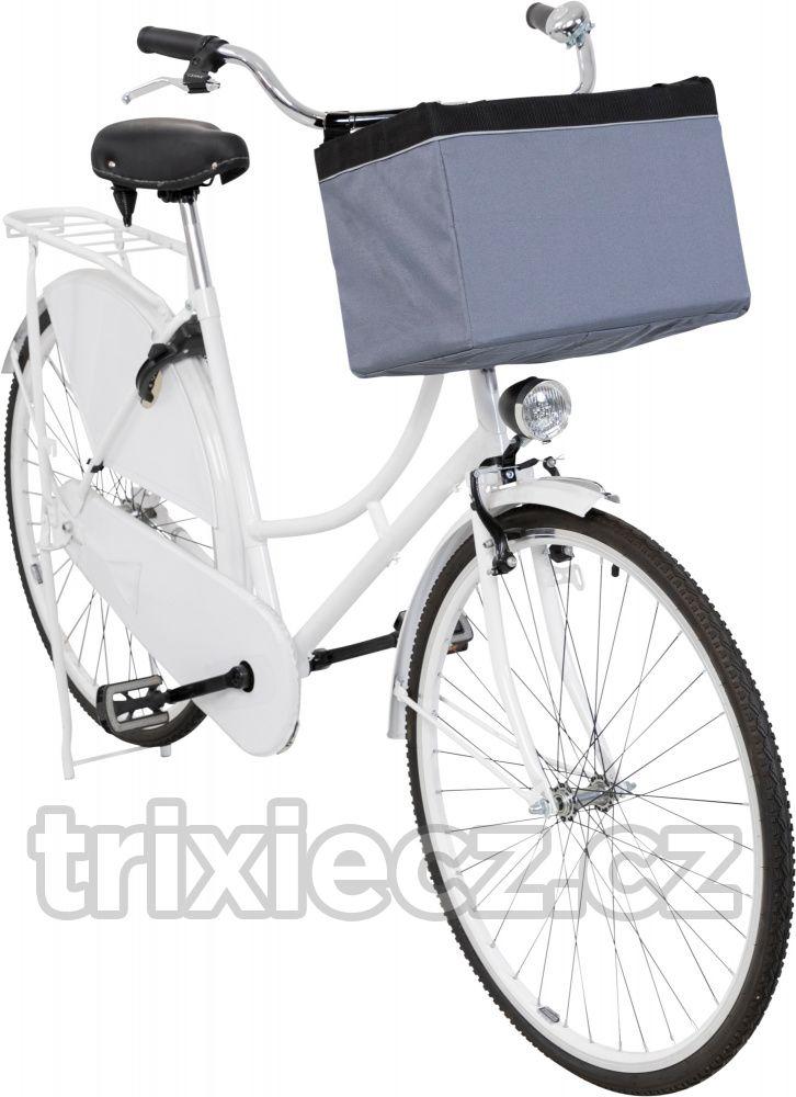 Přepravní FRONT-BOX na kolo šedá 38x25x25cm/6kg