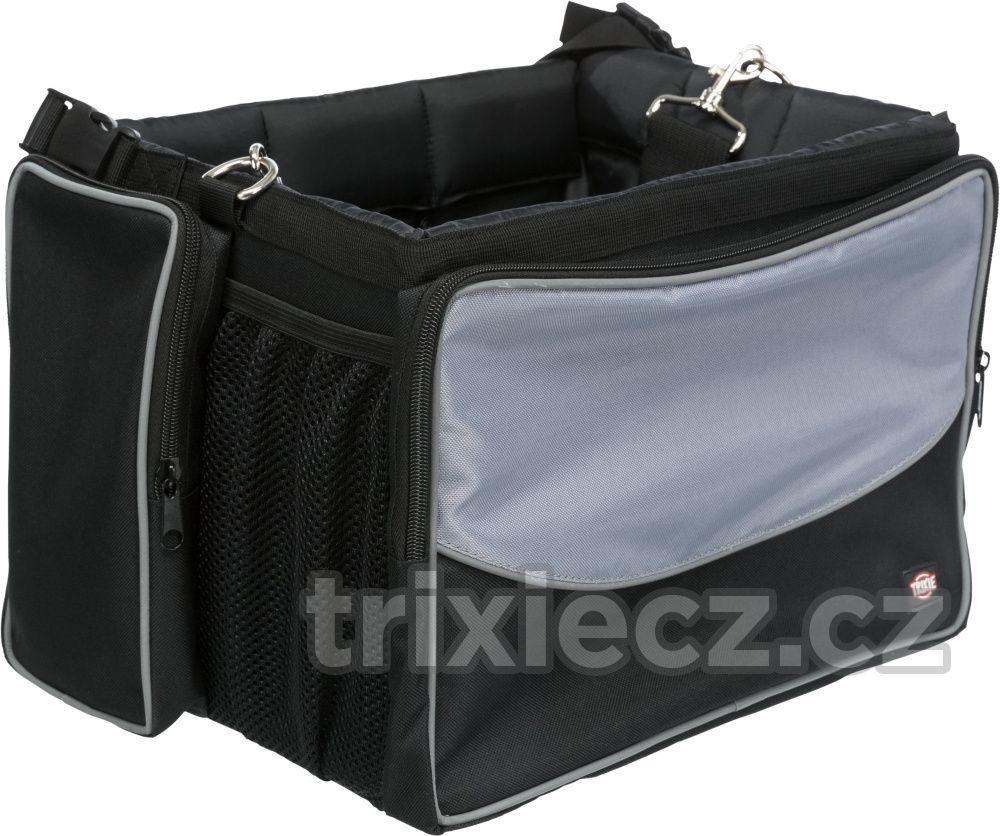 Přepravní FRONT-BOX na kolo šedá 41x26x26cm/7kg