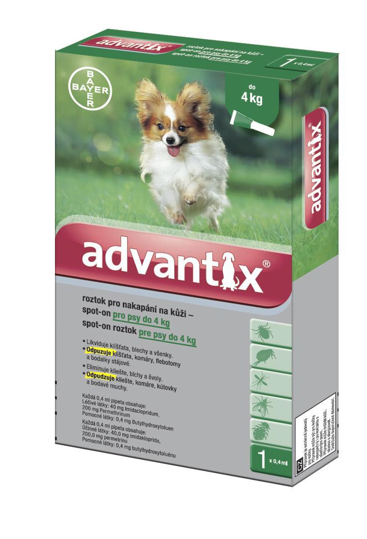 Antiparazitní spot-on ADVANTIX do 4kg