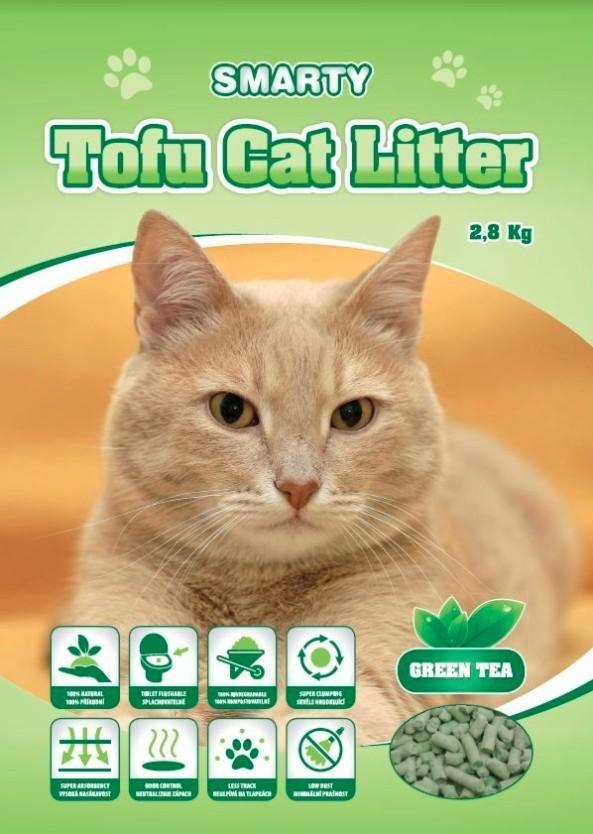 Podestýlka Tofu zelený čaj 6L/2,8 kg