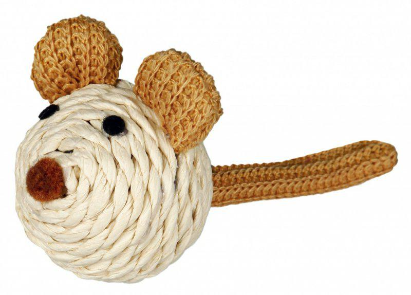 Sisalová myš/rolnička 5cm