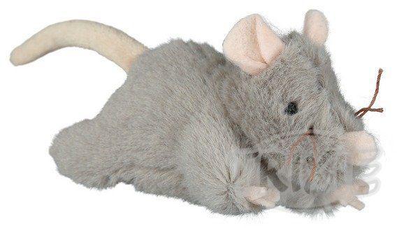 Plyšová myš šedá, robustní 15 cm