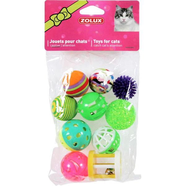 Zolux sada míčků 10ks 4 cm