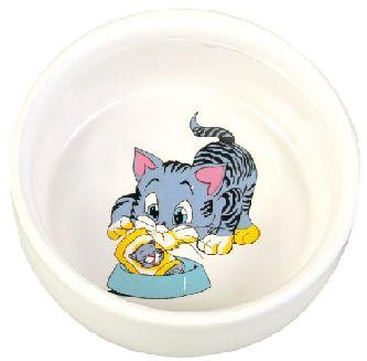 Miska keramická Malovaná kočka/motiv (trixie) 0,3/11cm