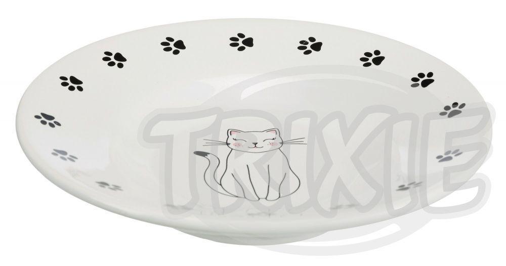 MISKA keramický talířek pro krátkonosé kočky 0,2l/15cm