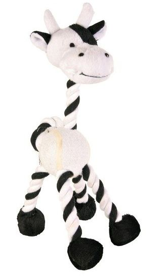 Žirafa/kravička s tenisovým míčem